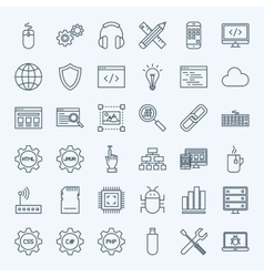 Line Programming Icons vector image