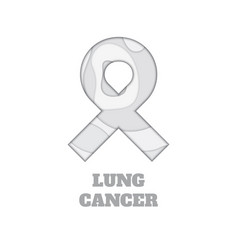 lung cancer awareness papercut ribbon vector image
