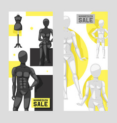 mannequins sale set banners vector image