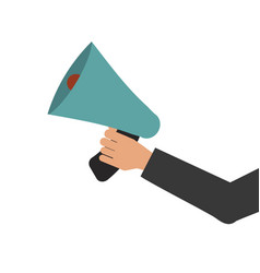 megaphone in hand bullhorn communication message vector image