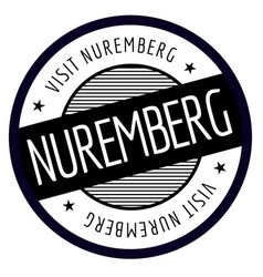 Nuremberg geographic stamp vector