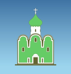 Old orthodox church vector