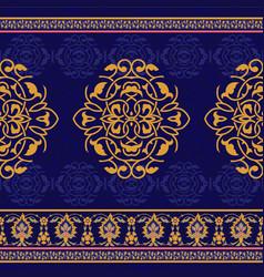 Ornamental seamless pattern in oriental style vector