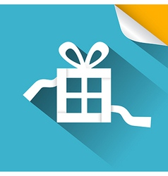 Paper Gift - Present Box Blue with Bent Corn vector image vector image