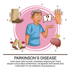 parkinsons disease infographic vector image