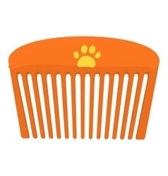 Pet comb icon cartoon style vector image