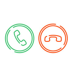 Phone call icons set vector
