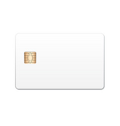 realistic bank card template vector image