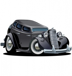 Retro cartoon retro car vector