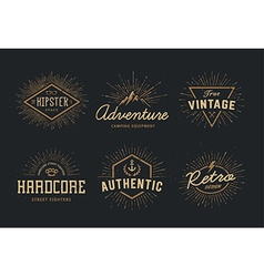 Retro Emblems Set vector image vector image