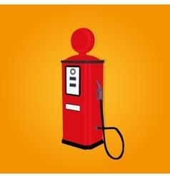 Retro gas station vector