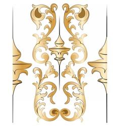 Royal floral golden ornament element pattern vector