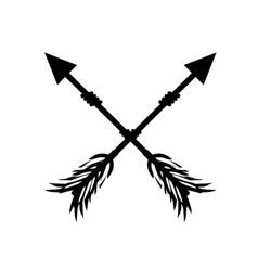 rustic arrows with ornamental design vector image