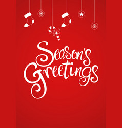 Script font type seasons greetings vector