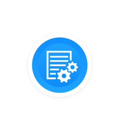 Settings file preferences icon vector
