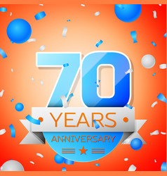 Seventy years anniversary celebration vector