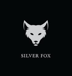 silver fox logo vector image