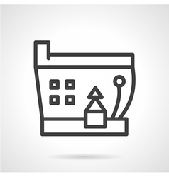Simple line ship icon vector image