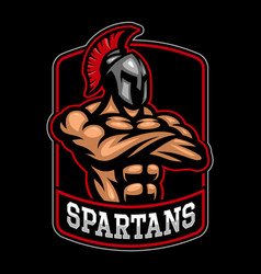 sparpartan warrior logo design vector image