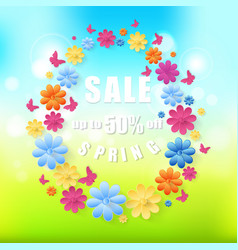 Spring sale background eps10 vector