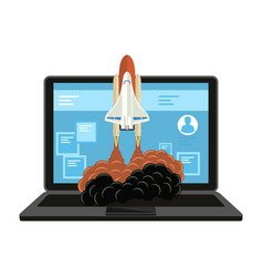 successful launch of startup vector image