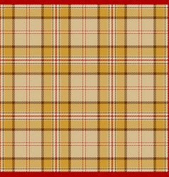 Tartan seamless pattern background red beige vector