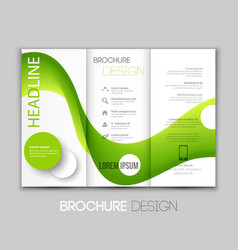template leaflet design with color lines vector image