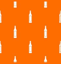 Vinegar bottle pattern seamless vector