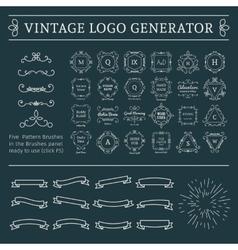 Vintage Logo Generator vector image