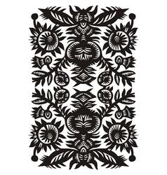 Wood cut floral pattern vector