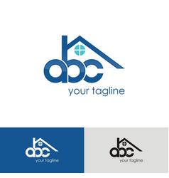 abc home logo vector image vector image