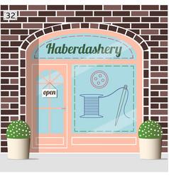 haberdashery shop facade vector image