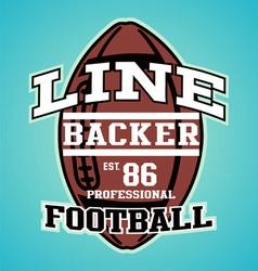 LINE BACKER vector image vector image