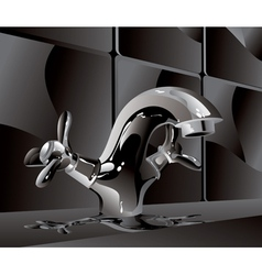 metal water faucet vector image vector image