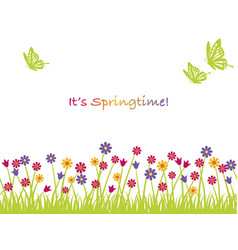 Seamless springtime background vector