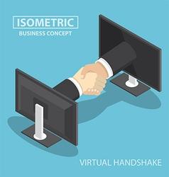 Virtual handshake vector image