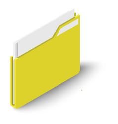 folder icon isometric style vector image vector image