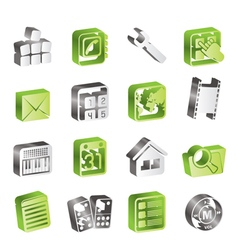 Simple Mobile Phone and Computer icon vector image