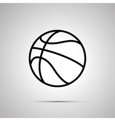 Basketball ball simple black icon vector image vector image