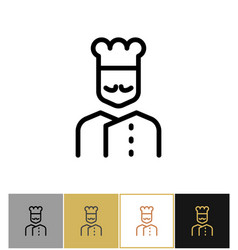 chef icon restaurant kitchen cook sign vector image