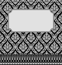 Frame with Thai art vector image