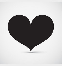 heart icon simple symbol vector image