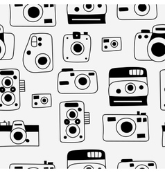 Photo cameras seamless pattern vector image