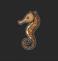 sea horse logo design template sea horse head icon vector image