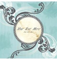 silver victorian vintage emblem vector image vector image