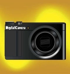 digital camara gold background vector image vector image