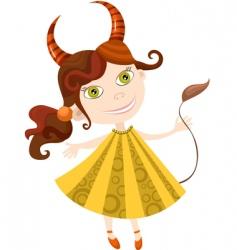 girl Taurus vector image