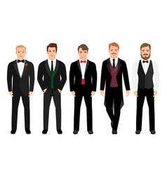 man in suit set vector image vector image
