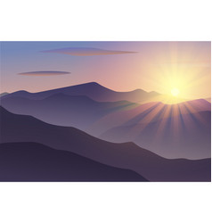 morning at mountains vector image