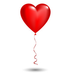 red balloon in form of heart vector image